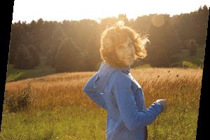 Frau nach NuStep at home Training